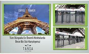 تجهیز برج ایفل به گیتهای تانسا